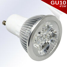Bombilla LED GU10 4*1W High Power LED Blanco Puro AC 85-240V - Únicamente 4W.