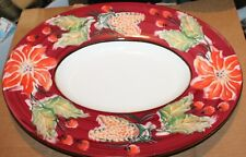 "Disegno by Varm Platter 19.5"" Across by 15.75"" Wide by 4"" Deep Poinsetta Design"
