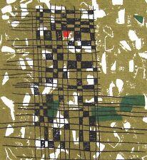 Tela De Colección 50s 60s Lucienne día en cuartilla cura era atómica Retro de Mediados de siglo #211