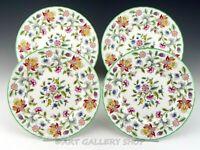 "Minton England B-1451 HADDON HALL FLORAL 8"" SALAD PLATES Set of 4 Mint"
