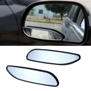 2pcs Auto Car Blind Spot Mirror 360° Wide Angle Convex Rear Side View Universal