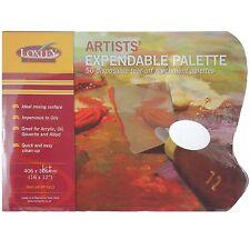 """LARGE ARTIST 16"""" x 12"""" DISPOSABLE WAX PAPER PALETTE PAD OIL ACRYLIC PAINT P1612"""