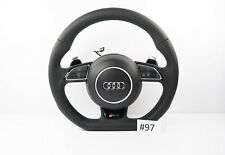 AUDI RS4 LINE A4 S4 A5 STEERING WHEEL FLAT BOTTON SHIFT PADLLES #97