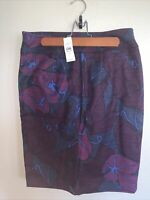Womens Ann Taylor Loft Small S Size 6 Floral Skirt Cotton Fall Winter Brand NWT