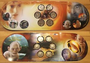 New Zealand 2003 6x 50 cents Lord of the Rings BU in Official Folder - Rare!