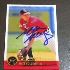 Rockies Matt Holliday Autographed Card