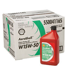 Aeroshell 15W-50 Multi-grade Oil. Case (12 quarts)