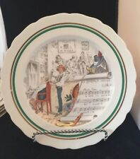 "VINTAGE  1920 PV , SCALLOPS EDGES PLATES 10"" SIGNED PORTIAUX , OPERA"