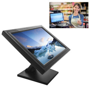 """17"""" Stand Touch Screen LCD Monitor+VGA TFT USB POS WinXP Vista 7 Koisk 1280*1024"""