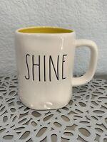 Rae Dunn - Shine LL - White Ceramic Coffee Mug w/ Yellow Interior ~NEW W/TAG