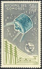 Comoro Islands 1965 ITU-UIT/Communications Satellite/Space/Morse Key 1v (n30492)