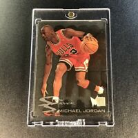 MICHAEL JORDAN 1995 FLEER METAL #3 SLICK SILVER FOIL ACETATE INSERT BULLS NBA MJ