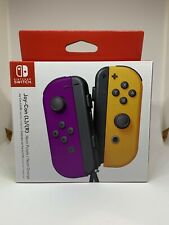 NEW Nintendo Switch Joycon Wireless Controller Official Neon Purple Orange HTF