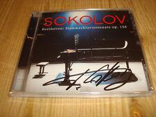 GRIGORY SOKOLOV Beethoven Hammerklaviersonate op.106 EURODISC CD Signed Signiert