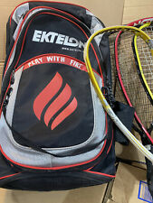ektelon racquetball backpack and 4 rackets