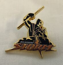 33028 MELBOURNE STORM NRL TEAM LOGO COLLECTABLE LAPEL HAT TIE PIN BADGE