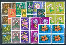 SIERRA LEONE 1963 DEFINITIVES SG242/254 BLOCKS OF 4 MNH