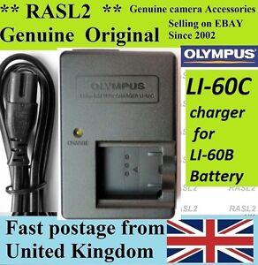 Genuine Olympus Charger Li-60C,Li-60B C-575 C575 FE-370 FE370 X880 X-880 EN-EL11
