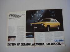 advertising Pubblicità 1980 DATSUN CHERRY