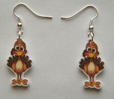 New Thanksgiving BabyTurkey  Dangle Earrings Way to Cute!
