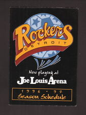 Detroit Rockers--1996-97 Pocket Schedule--Coke--NPSL