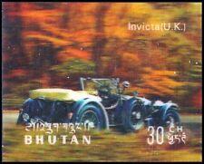 """BHUTAN 128E (Mi445) - Antique Automobiles """"British Invicta"""" (pf3092)"""