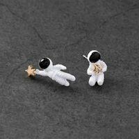 Astronaut Asymmetrical Space Fashion Jewelry Ear Stud Stud Earrings Women Gifts