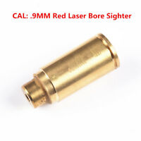 High Quality Brass CAL 9MM Red Laser Bore Sighter Hunting For Gun Rifle Pistol