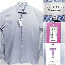 TED BAKER Endurance Mens 15.5 34/35 Dress Shirt Button Front Long Sleeve Gray