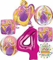 Princess Rapunzel Party Supplies 4th Birthday Orbz Balloon Bouquet Decorations