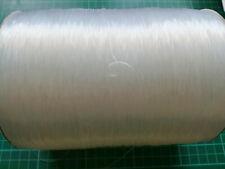 Rollo 50 m de hilo de silicona 0,7 mm transparente elástico bobinado de carrete
