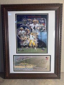 Green Bay Packers Brett Favre 300th Career Touchdown and Lambeau Field Prints