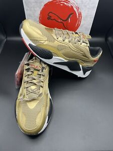 New Puma RS-X3 WC Running Shoes Mens Size 9 Gold/Black 374808-01