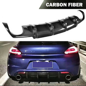 Fit for Volkswagen VW Scirocco R 09-14 Rear Bumper Lip Diffuser Carbon Fiber