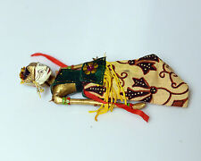 "Vintage Indonesian Wayang Golek Puppet Doll  Wood Rod Stick 6""  Green Dress"