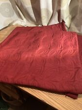 4 Dark Red 16in Square Cushion Covers With Stitch Pattern Detail