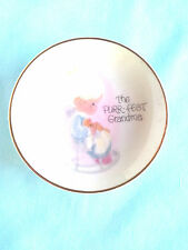 "The Purr-Fect Gradma 1984 4"" gold-rimmed Precious Moments collector plate"
