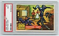 1956 Topps Round-Up #7 Wild Bill Hickok Fighting Fury PSA 7