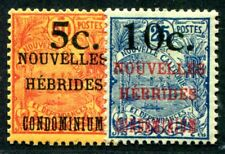 NOUVELLES HEBRIDES 1920 Yvert 58-59 * AUFDRUCKE (F3820