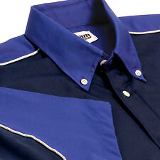 Team Wear Fitted Ladies/Womans GT Blouse In Navy & Royal - X-Large XL