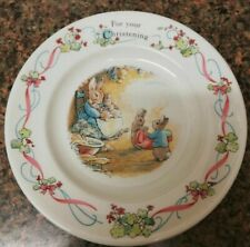 Vintage Wedgwood Peter Rabbit For Your Christening Decorative Plate 1992