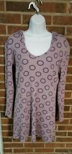 Junior's/Womens Hurley Long Sleeve Purple Shirt Lightweight Hoodie Size Large