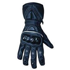 Gants noirs en cuir pour motocyclette Homme taille XXL