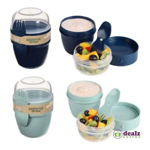 Sistema Renew Snack Capsule Pot Microwave Plastic Lunch Container 515ml BPA Free