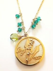 Designer Gara Danielle 14kgf Lily Of The Valley Necklace