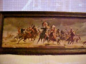 Antique Vintage Old Wild West Frontier Print, IN ANTIQUE FRAME