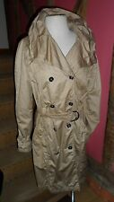 Size 12  Double Breasted Rain Coat in Golden Honey Polyester Blend by concept k