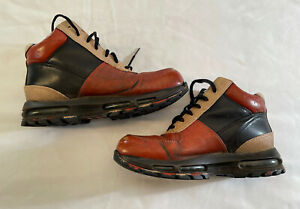 Mens Nike Air Max GoaDome Brown Leather ACG Waterproof Boots 599474-050 Size 10