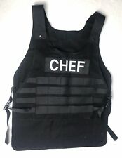 Think Geek Tactical Bbq Apron Chef Uniform Vest Awesome Gag Gift Black