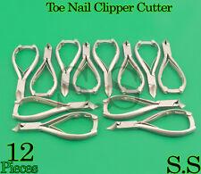 12 Pcs Toe Nail Clipper Cutter Pedicure, Moon Shape,Excellent